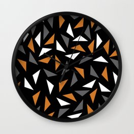 Animated triangles Wall Clock