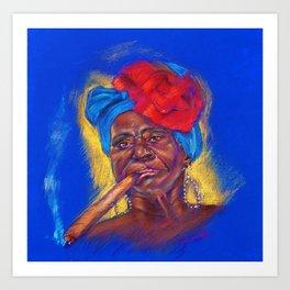 Cigar Woman Art Print