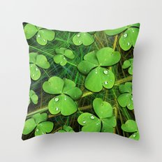 Shamrock St Patrick's Day Pattern Throw Pillow