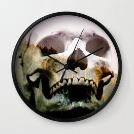 Horror in the woods Wall Clock