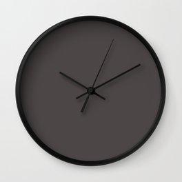 Solid Black Cow Color Code #4C4646 Wall Clock