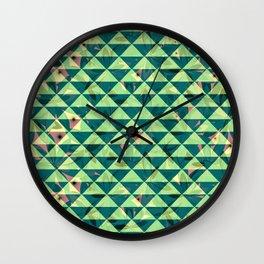 Vegetation-triangles Wall Clock