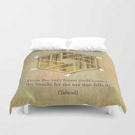 Forest & Axe — Illustrated Quote Duvet Cover