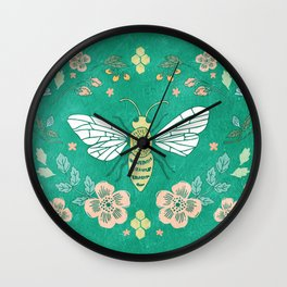 Bee Garden Wall Clock