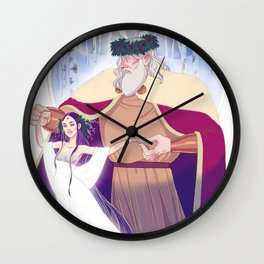Father Frost and Mother Goddess  Wall Clock