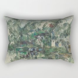 Classic Art At the Water's Edge Paul Cézanne Rectangular Pillow