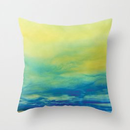 YELLOW & BLUE TOUCHING #1 #abstract #art #society6 Throw Pillow