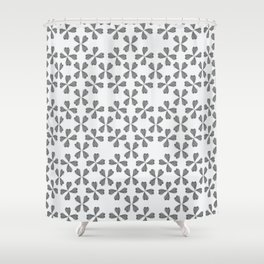 Feather Fan pattern - black and white Shower Curtain