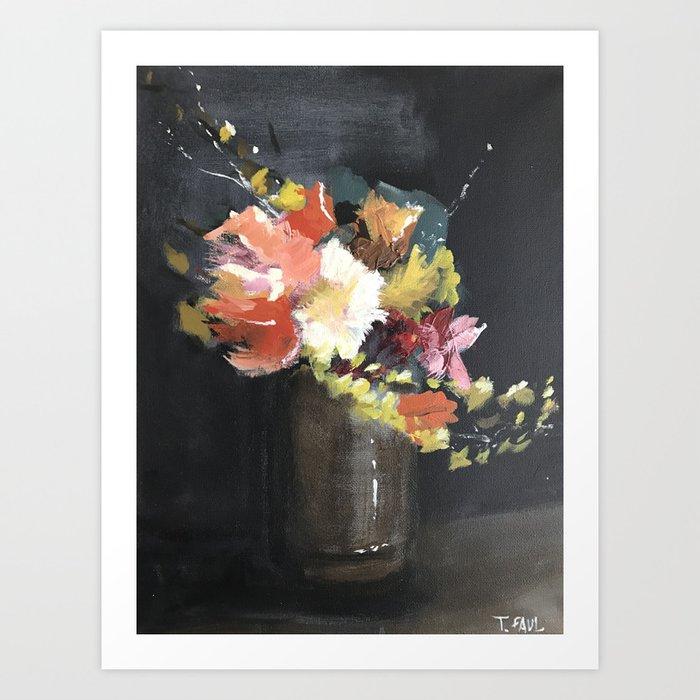 Moody Floral #2 Art Print