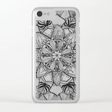 Tropical Floral Mandala Clear iPhone Case