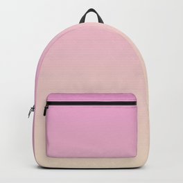 Pastel Millennial Pink Peach Gradient Backpack