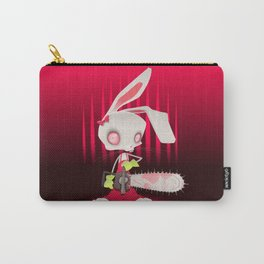 Horror bunny with chainsaw. Carry-All Pouch