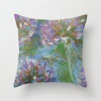 monet Throw Pillows featuring After Monet by Suellen Tomkins