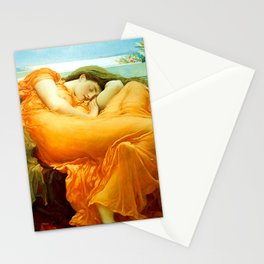Flaming June Painting By Frederic Leighton Stationery Cards