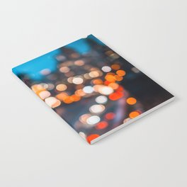 Bokeh view of Downtown Manhattan Notebook