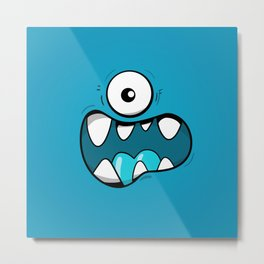 Monster face Metal Print