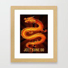 Jeet Kune Do - JKD, the Dragon Framed Art Print