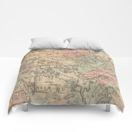 Vintage Map of The NH Lakes Region (1890) Comforters