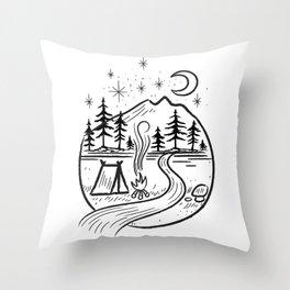Nature camping Sign Throw Pillow