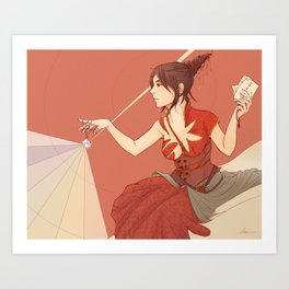She Tames the Light Art Print