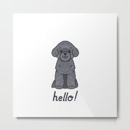 Say Hello - Silver Toy Poodle - Boo Metal Print