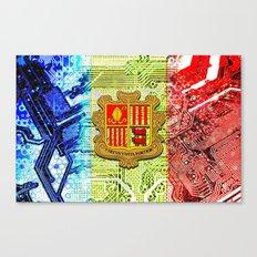 circuit board Andorra (flag) Canvas Print