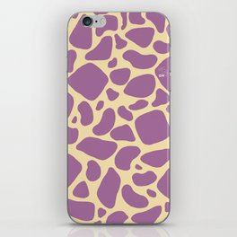 Purple Giraffe Print iPhone Skin
