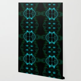 Dark Forest Lotus Fractal Art Print Wallpaper