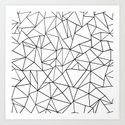 Abstract Outline Black on White by projectm