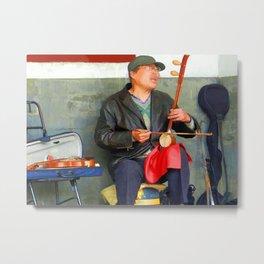Chinese Musician  Metal Print