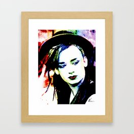 Boy George - Karma Chameleon - Pop Art Framed Art Print