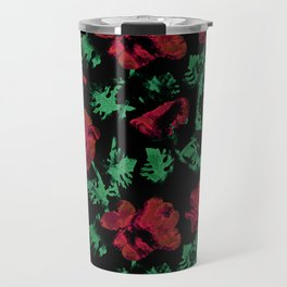 Abstract pattern . Red poppies. Travel Mug