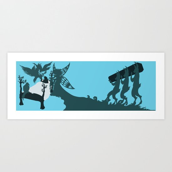 Pinocchio and the Blue Fairy 2 Art Print