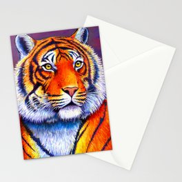 Colorful Bengal Tiger Portrait Stationery Cards