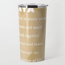 YaYa Typography Travel Mug