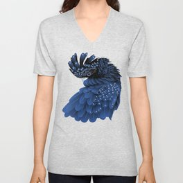 Australian Black Cockatoo Portrait Unisex V-Neck