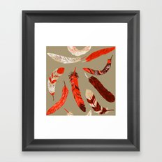 Flying Feathers Framed Art Print