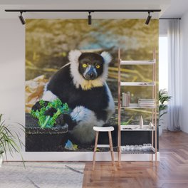 Golden Lemur Wall Mural