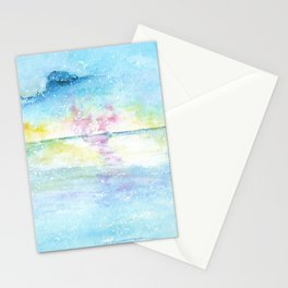 Blue Sky Watercolor Illustration Stationery Cards