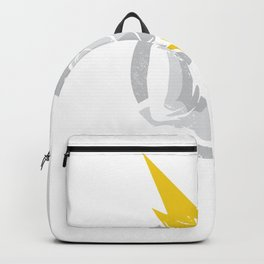 Zeus with lightning in hand Backpack