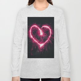 Firework Heart (Color) Long Sleeve T-shirt