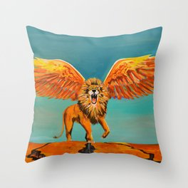 The Conquering Lion Throw Pillow