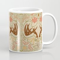 wisconsin Mugs featuring Wisconsin Pattern by Kayla Catherine Illustration
