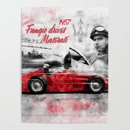 Fangio drives M 250F Poster
