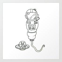 Space Sperm Art Print
