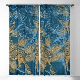 Teal Garden In Spring Blackout Curtain