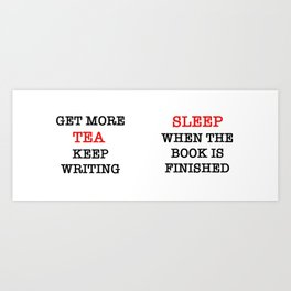 writing tea Art Print