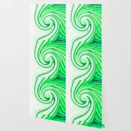 iDeal - Mirrored Illusions - Green Wallpaper