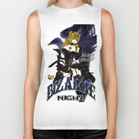 burlesque Biker Tanks featuring BLACK SWAN BURLESQUE NIGHT by Chandelina