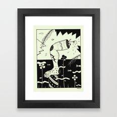 water leg Framed Art Print